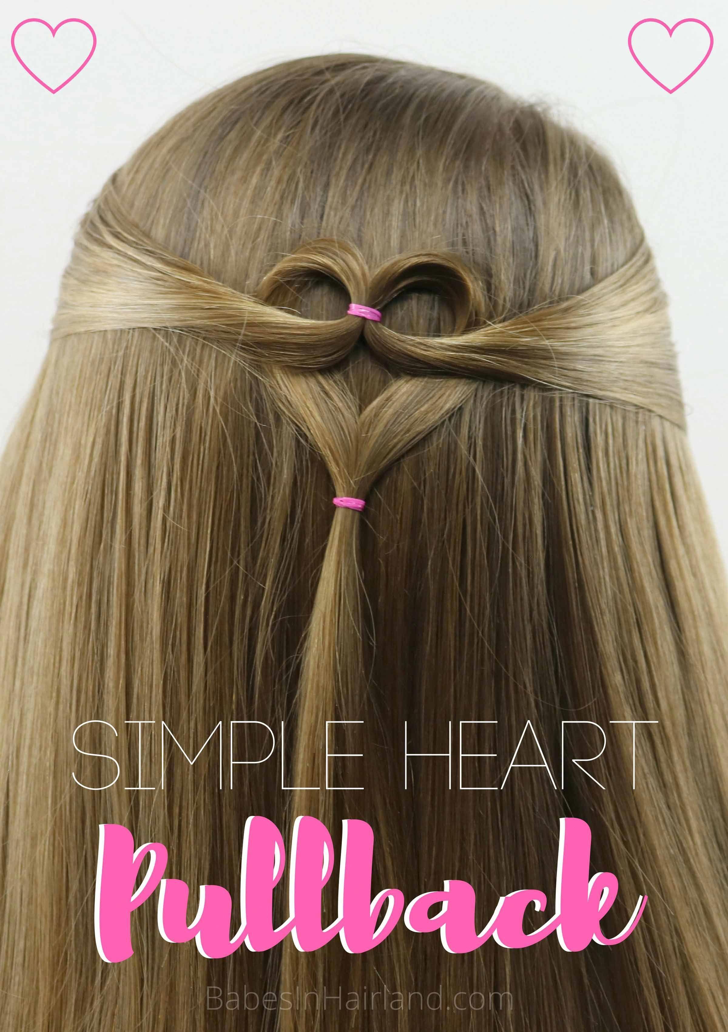 Triple Heart Pullback Cute Simple Valentine S Day Hairstyle In 2020 Valentine S Day Hairstyles Heart Hair Cute Hairstyles For Kids