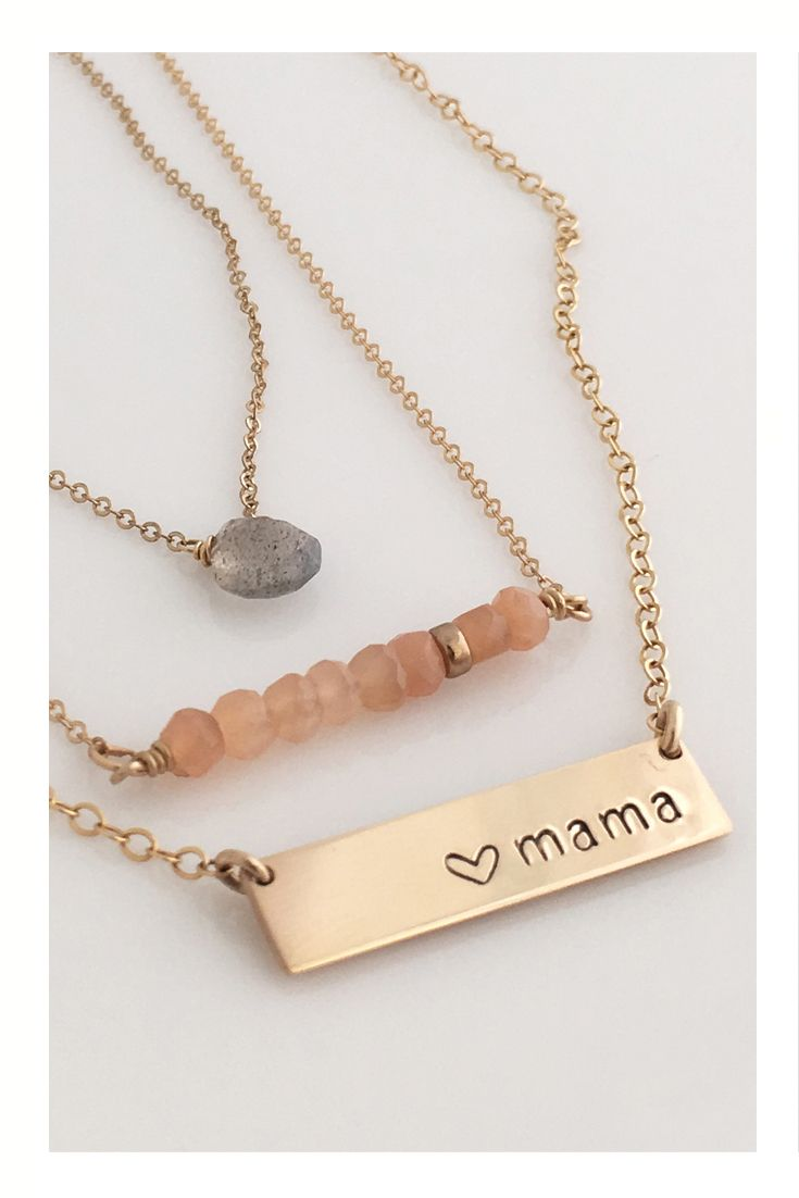 09af66a559af5 Mama Bar Necklace, nameplate necklace, mothers day gift, new mom ...