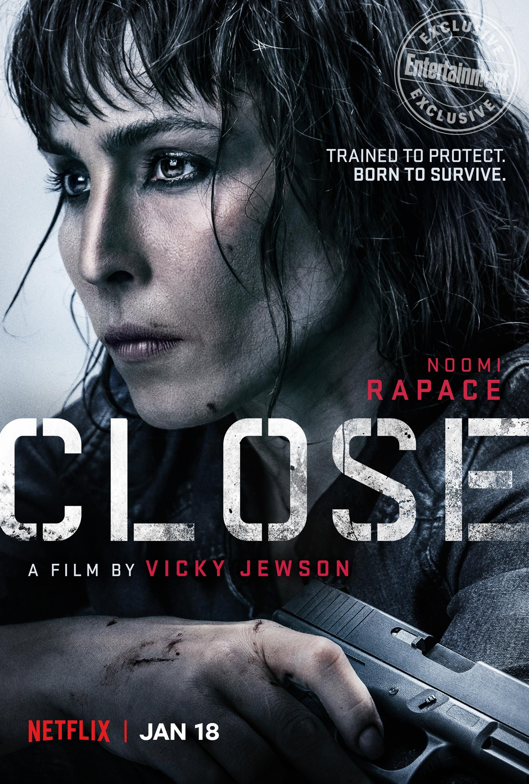 Noomi Rapace Dives Into The World Of Female Bodyguards In Trailer For Netflix Thriller Em Close Em Closer Movie Noomi Rapace Indie Movie Posters