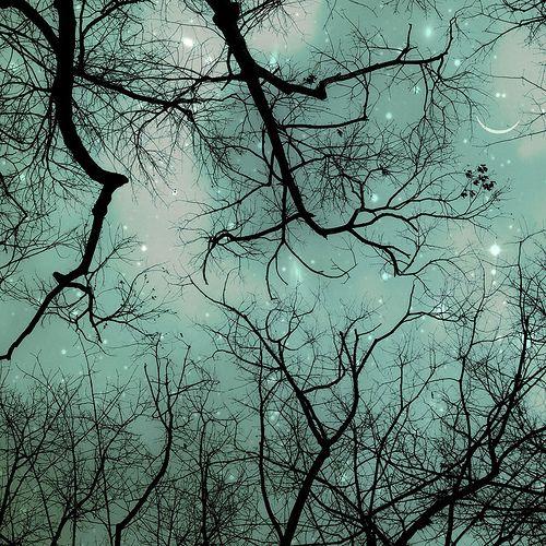 Kaunis turkoosinvärinen taivas