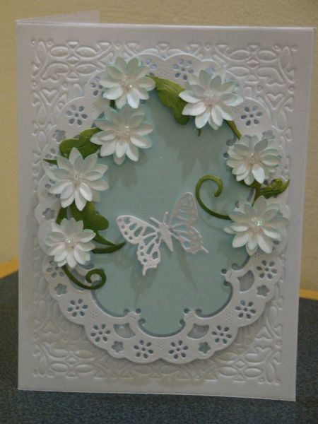 Very beautiful. white, pale blue, green. Cherry Lynn