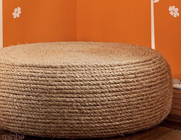 Mueble con caucho reciclado