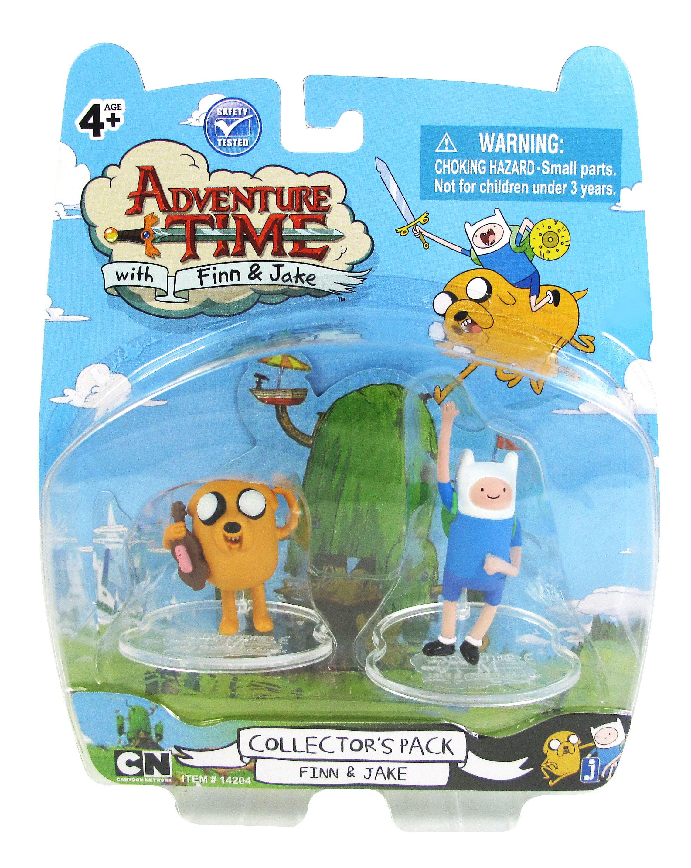 New ADVENTURE TIME Cartoon Network MINI TOY PLAYSET FIGURES COMPLETE SET 4 FINN!