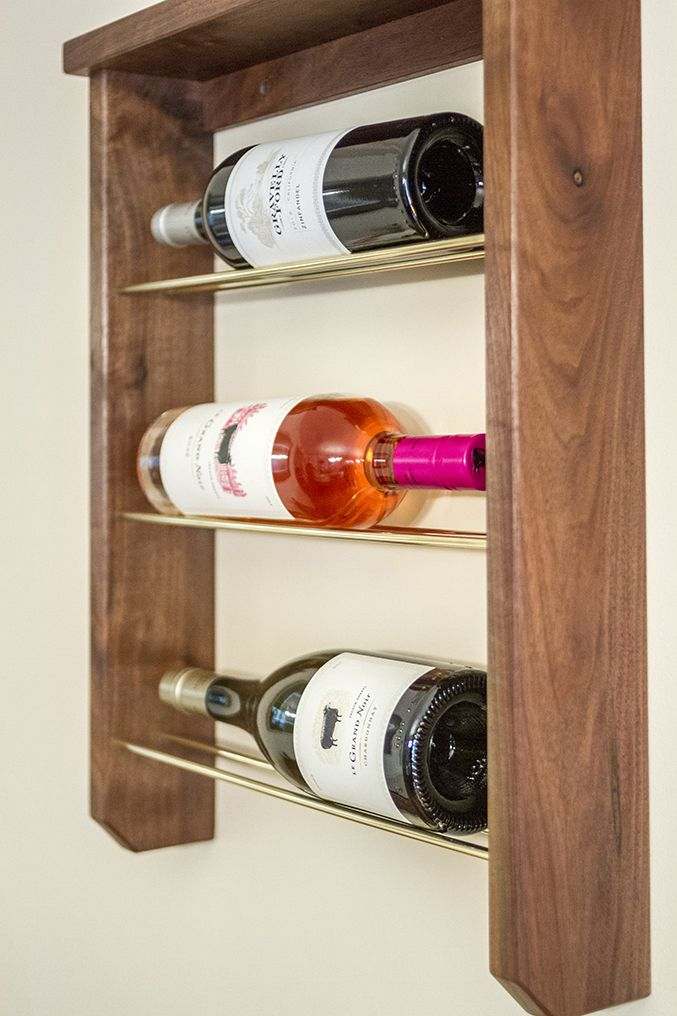 Diy Wood Brass Wine Rack Wood Diy Wine Rack Diy Wine