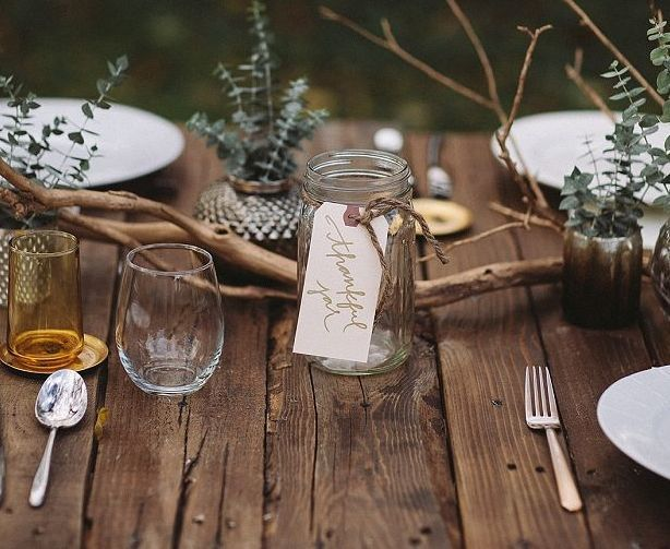 Thanksgiving rustic table indeed decor