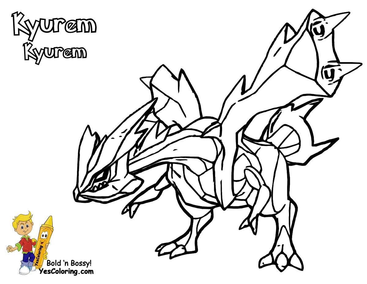 Pokemon White Kyurem Coloring Pages