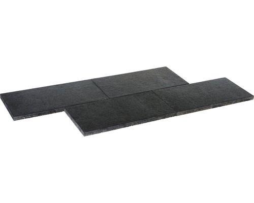 Beeteinfassung Beton beton terrassenplatte istone premium basalt schwarz 80x40x4cm