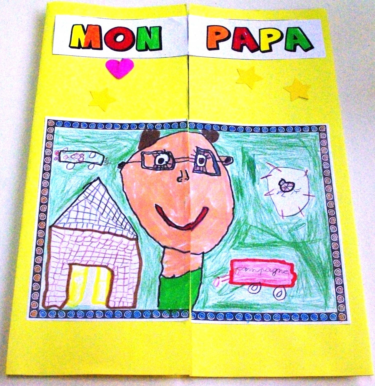Fete Des Peres : photos de notre lapbook sp cial papa bricolages ~ Nature-et-papiers.com Idées de Décoration
