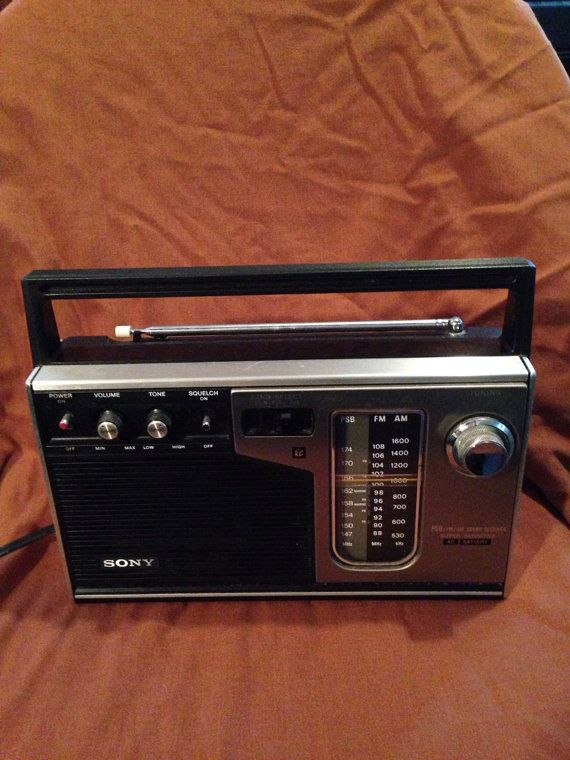 Vintage 1970s Sony 3 Band Portable Radio Model Icf 7370w