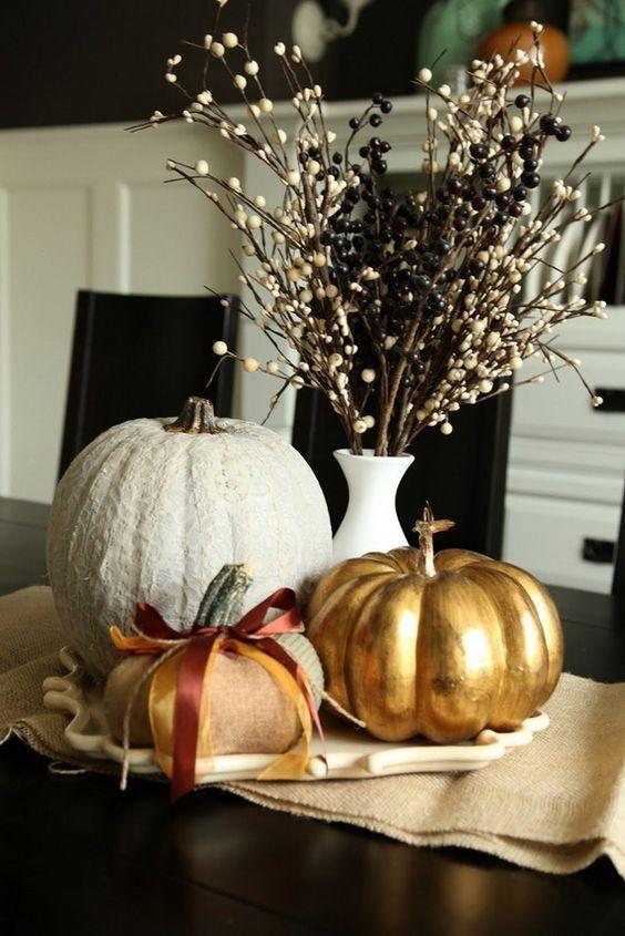 Most Stunning Round Table Centerpieces Fall Pumpkin Centerpieces
