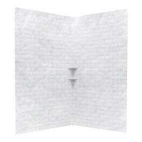 Swanstone Ice Solid Surface Shower Wall Surround Corner Wall Panel ...