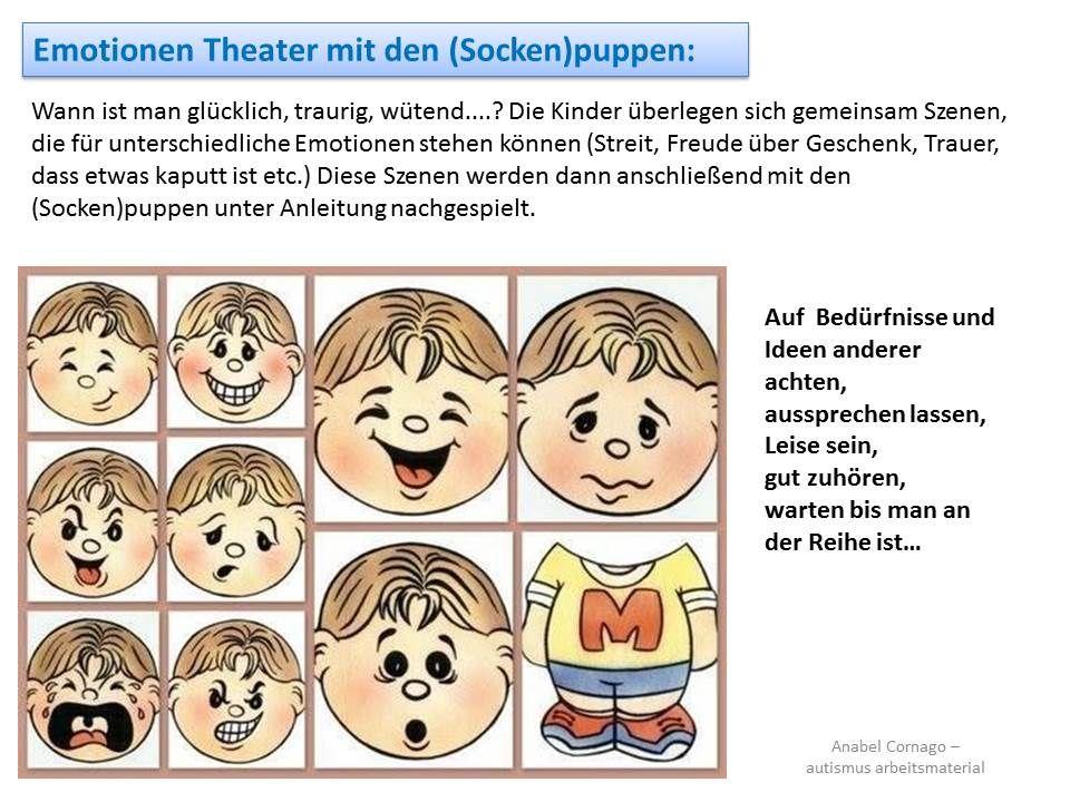 Wann ist man glücklich, traurig, wütend....? Die Kinder überlegen ...
