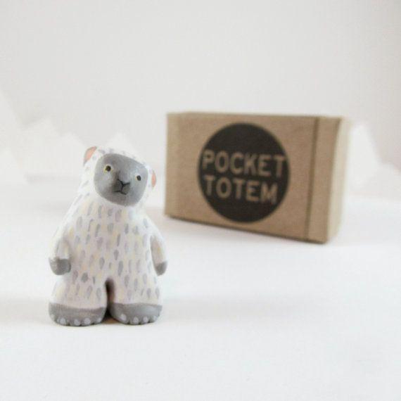 Yeti  pocket totem figurine by HandyMaiden on Etsy, $32.00