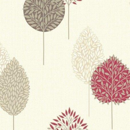 Arthouse Dante Motif Wallpaper Cream Red 884001 Red Wallpaper Go Wallpaper Home Art