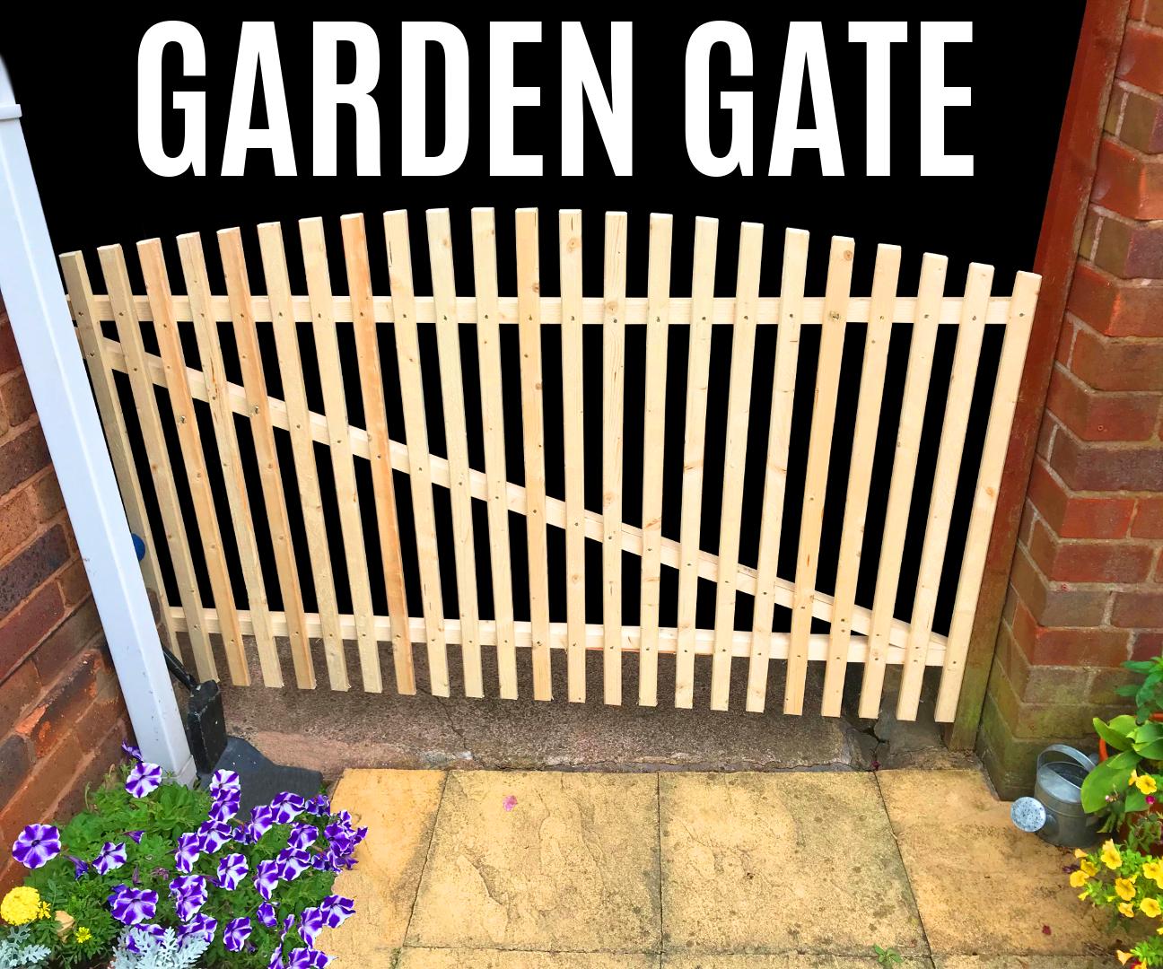 Outdoorküche Stein Gate : How to make a garden gate in wood working plans tips