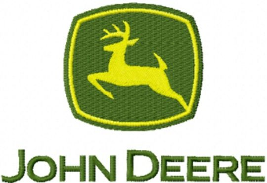Photo Of John Deere Tractor Logo Machine Embroidery Design In 4