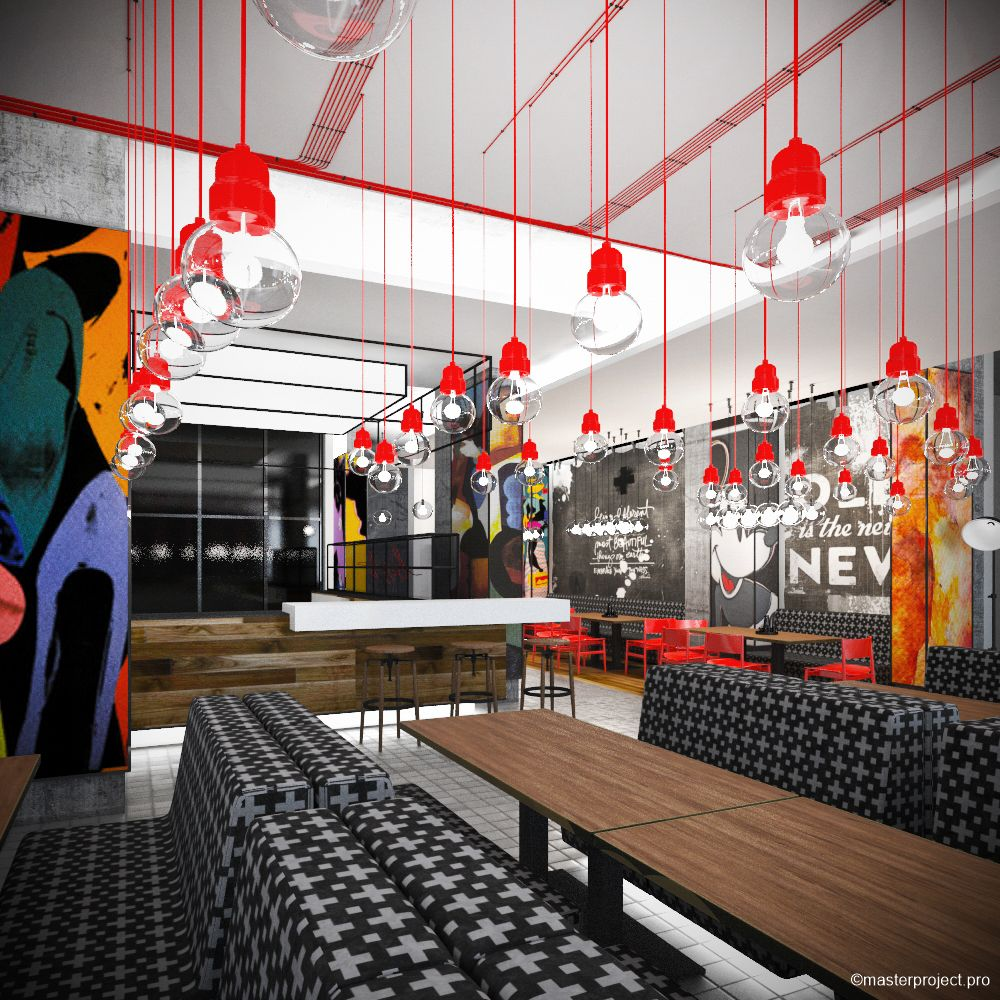 Pop Art Style In Interior Design Restaurant Project By Master