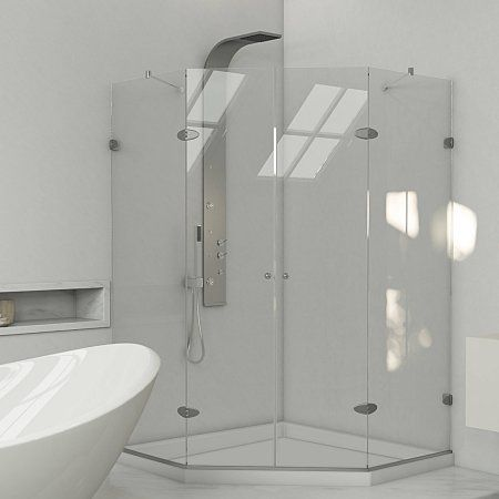 Home Improvement Neo Angle Shower Shower Enclosure Glass