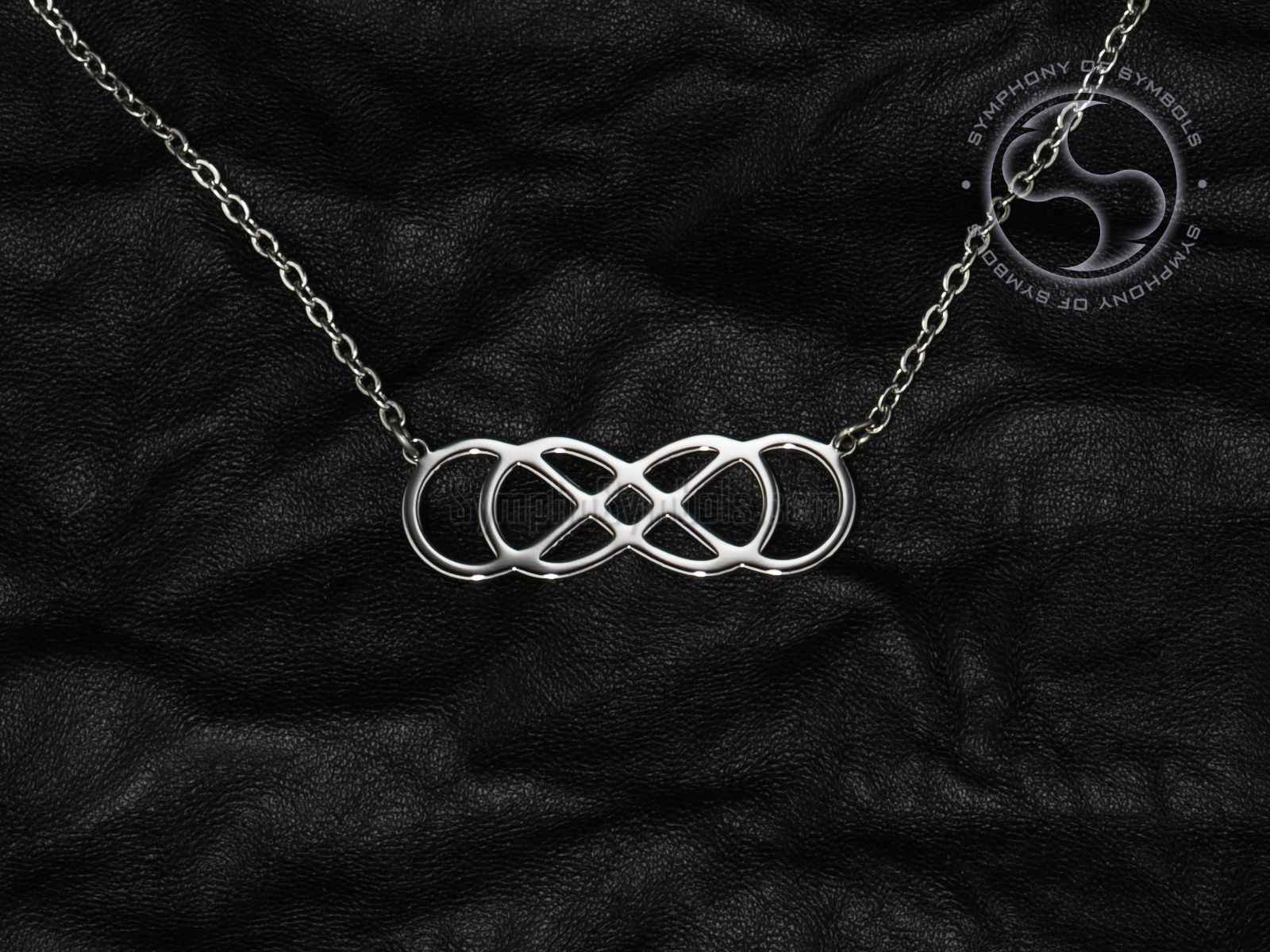 Stainless Steel Infinity Knot Symbol Pendant