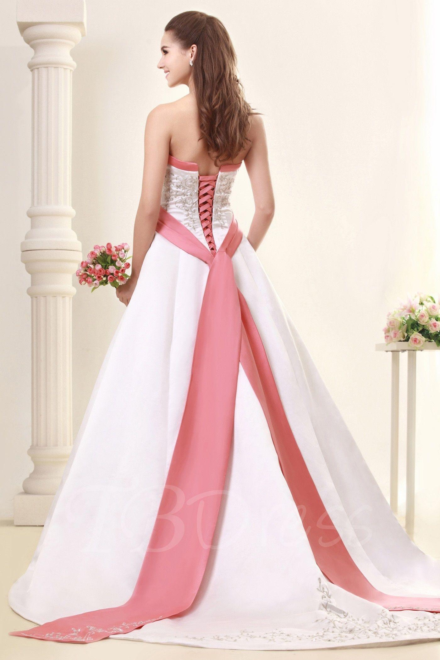 Alineprincess strapless embroidery sandraus wedding dress