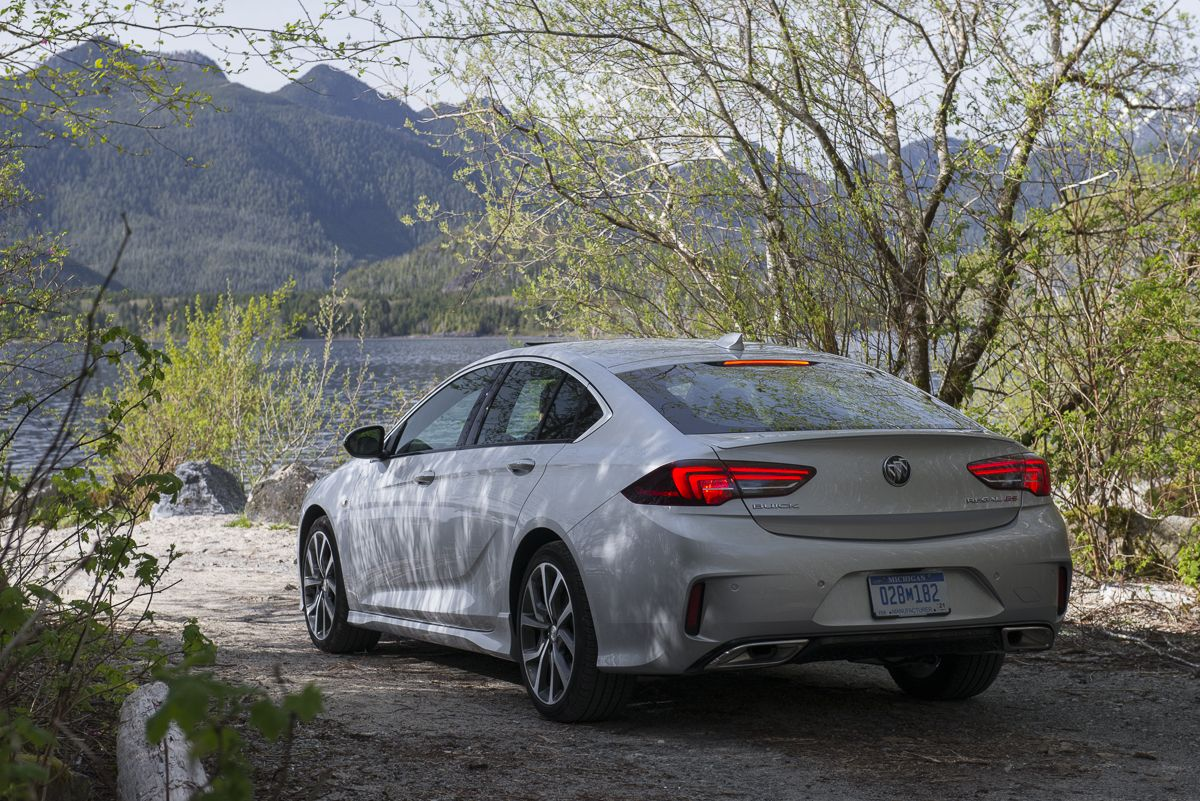 First Drive 2018 Buick Regal Gs Review The American Sportback Sedan Buick Regal Gs Buick Regal Sedan
