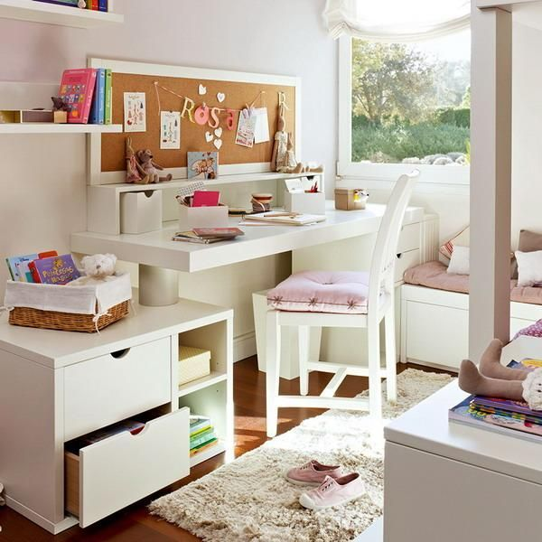 Kids Study Area Ideas: 25 Student Desk Designs And Studying Area Ideas Pairing