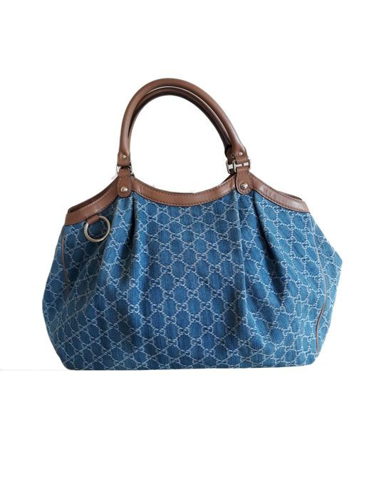Auctioned off through  Catawiki   Gucci -  Sukey  Denim  Handbag   7ed133855e3