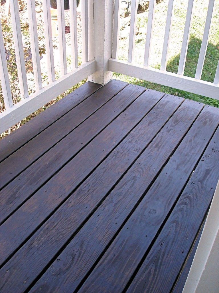 Porch Floor Remix Staining Deck Best Deck Stain Deck Stain Colors