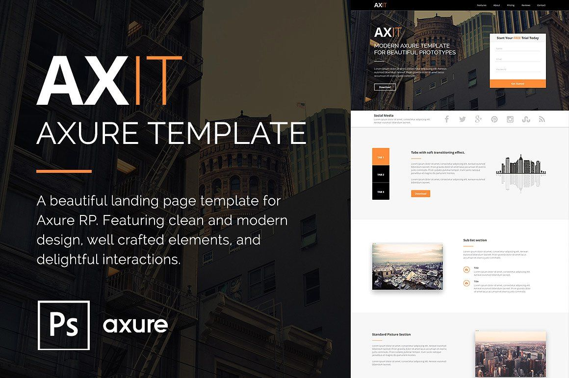 Axit Axure Adaptive Views Template Free Rp Includes Full