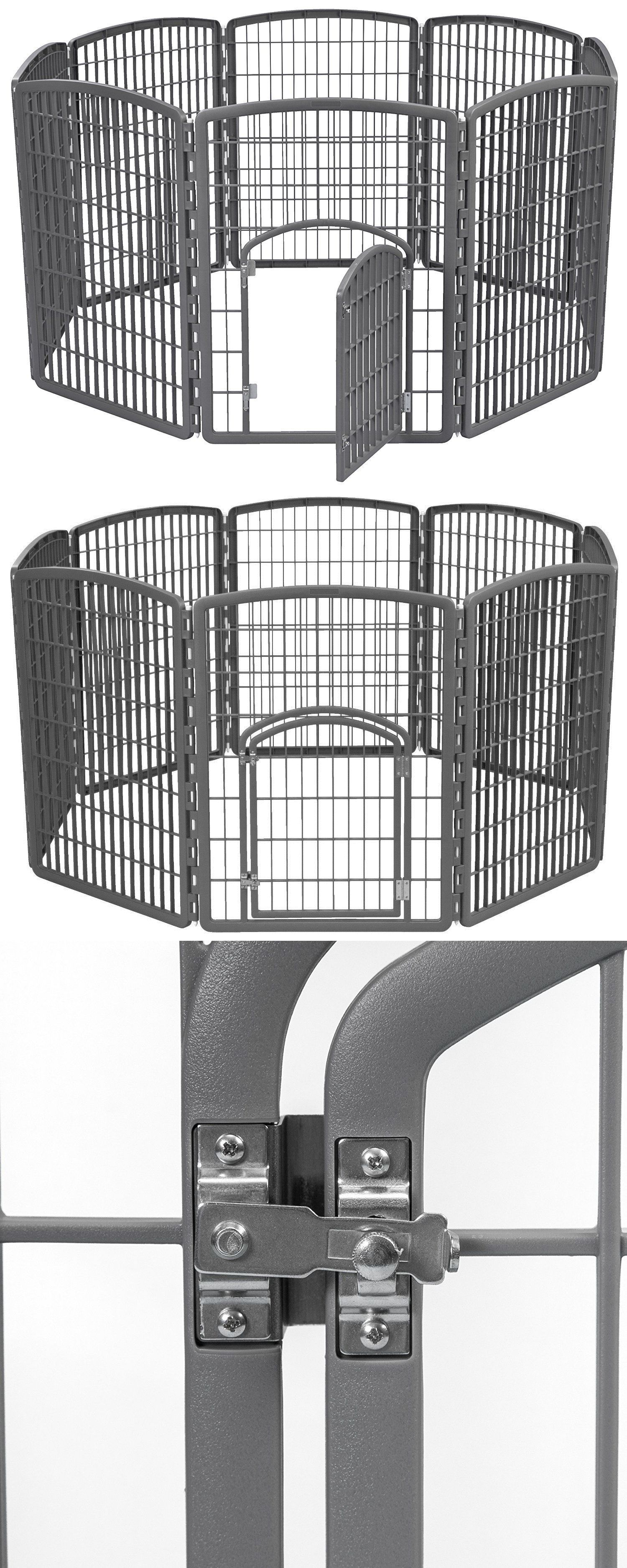 Fences And Exercise Pens 20748: Dog Fence Indoor Outdoor Portable Pet Pen  Gate With Door