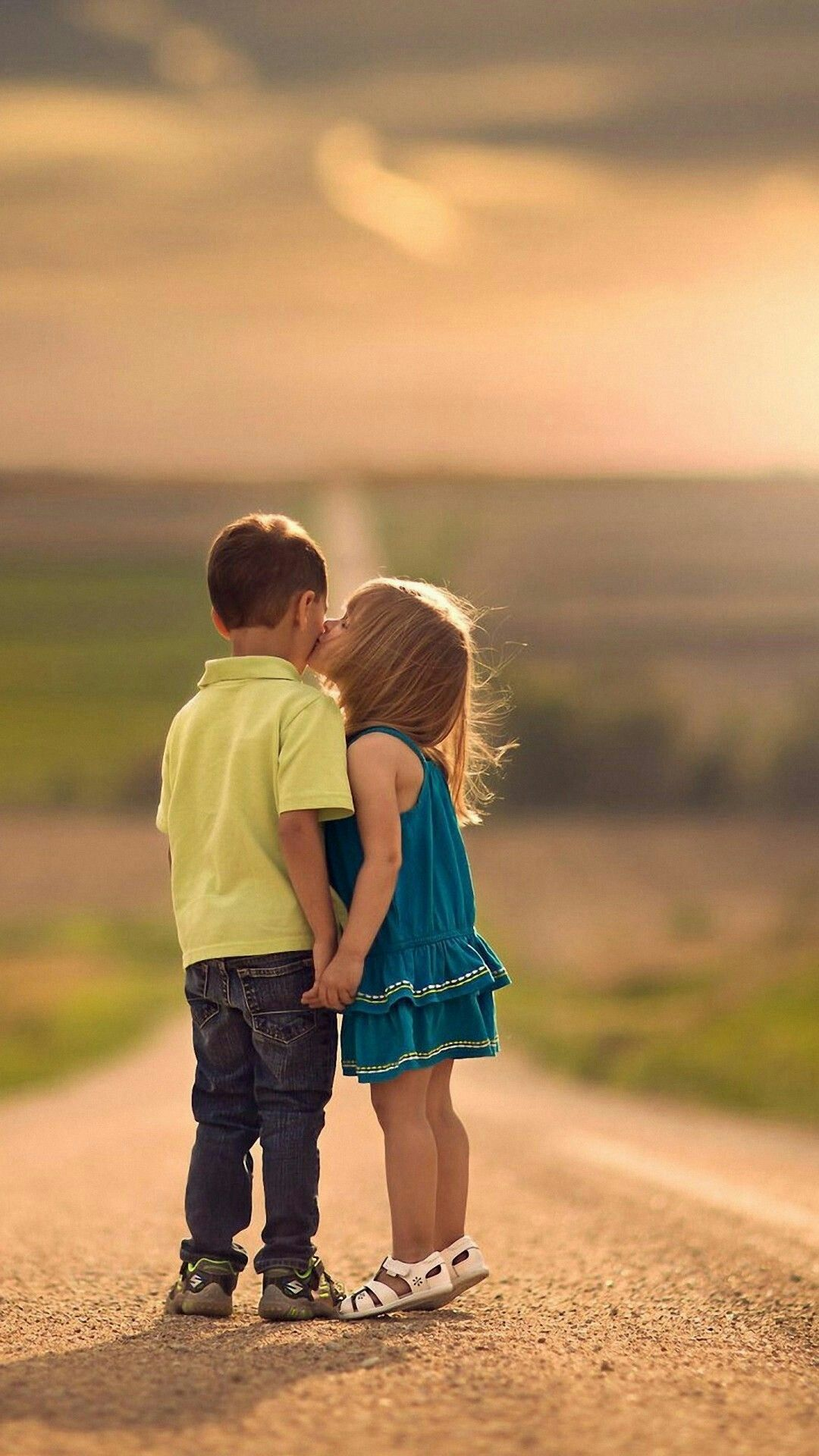 Join The Latest News Kids Kiss Cute Baby Couple Love Kiss Photo
