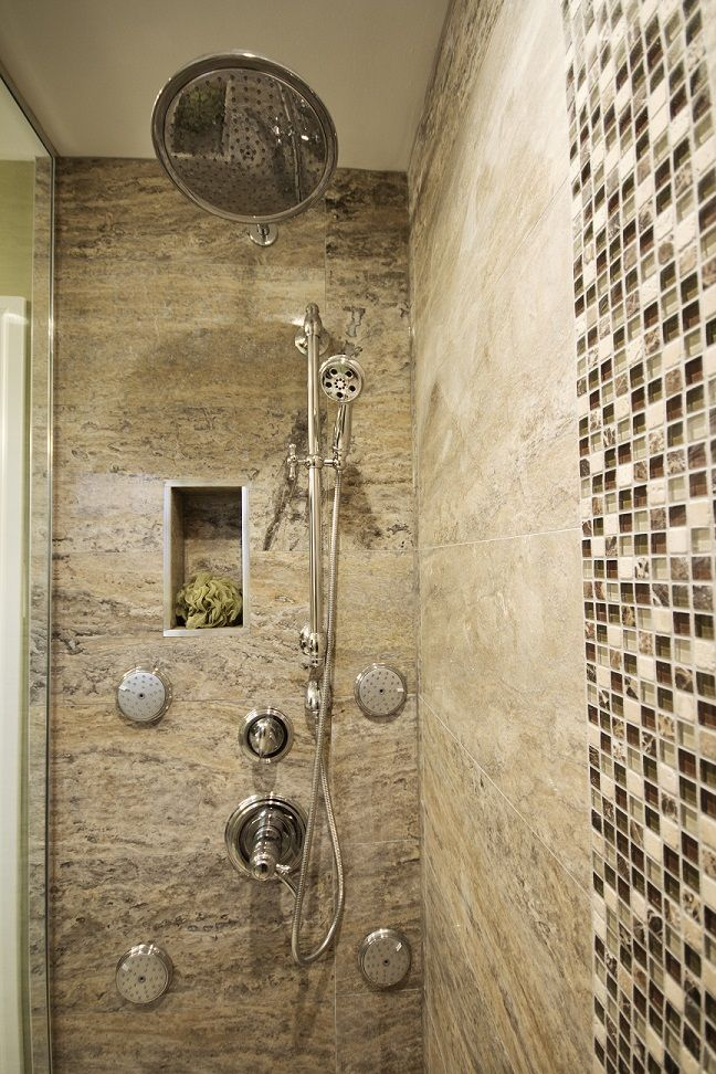 Bathroom Designs With Stand Up Shower stand up shower with glass tile from the other angle | bathrooms