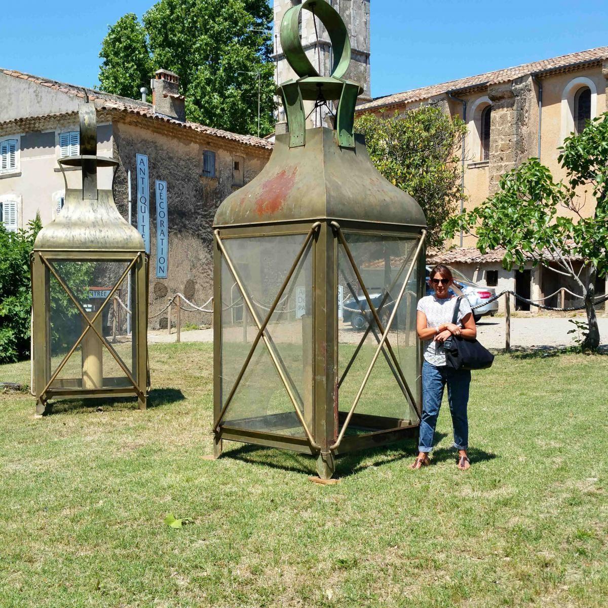 Lanternes g antes 4 m tres de hauteur antiquit s alric proantic lanterne geante - Lanterne jardin ...