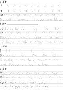 Small font printing worksheets for Cooper #