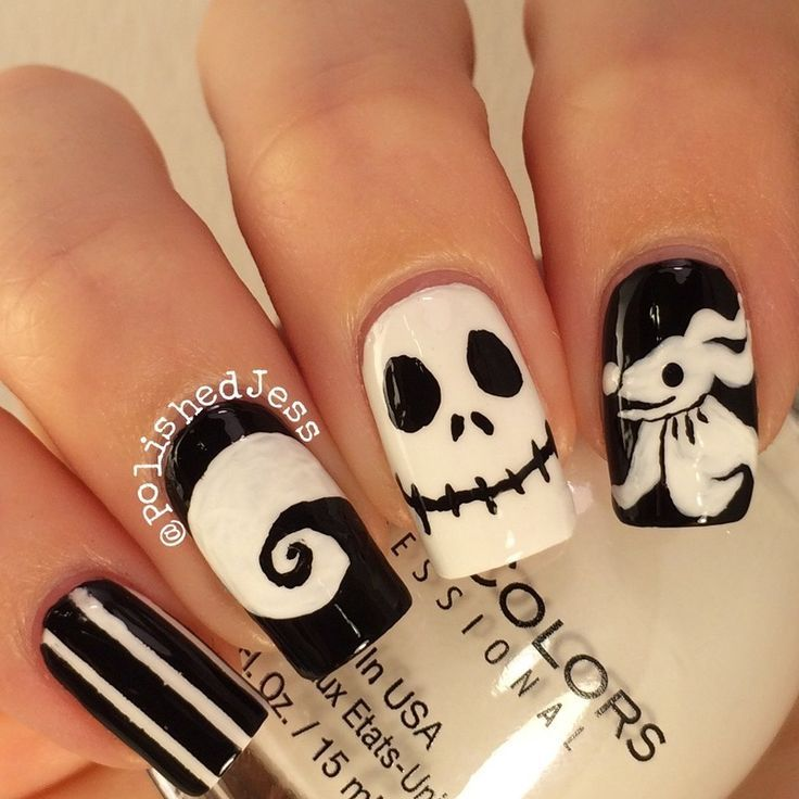 nice nightmare before christmas nail art - Google Search...   Nail ...