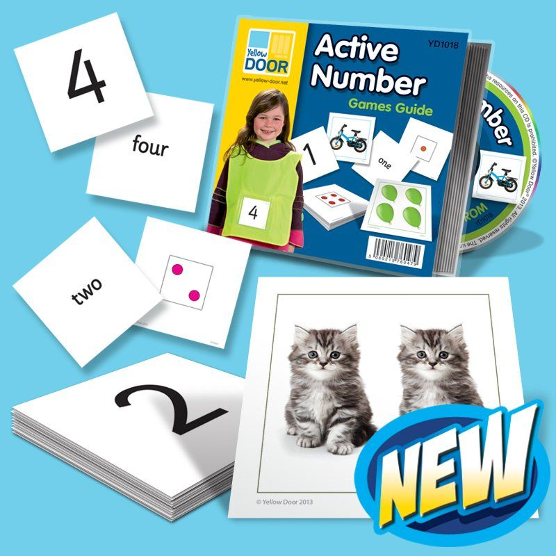 Active Number Cards for number recognition activities in early ...