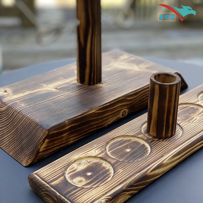Ring Toss Game Craggy Games for Adults Kids Handmade Wooden Ring Toss Hooks Fast-paced Drinking Table Games for Bars Party Home Outdoor Indoor 2021 Newest Ring Toss Game with Shot Ladder Bundle