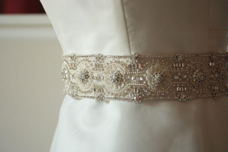 Hand Beaded Wedding Sash belt - Bridal Sash - MI   Bridal Belts ...