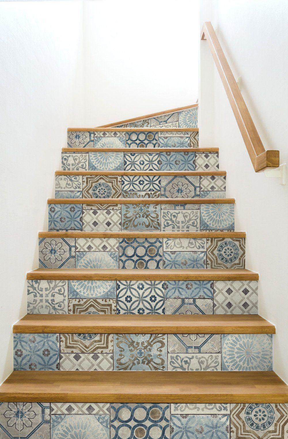 Moroccan Tile PeelandStick Wallpaper in Neutrals and