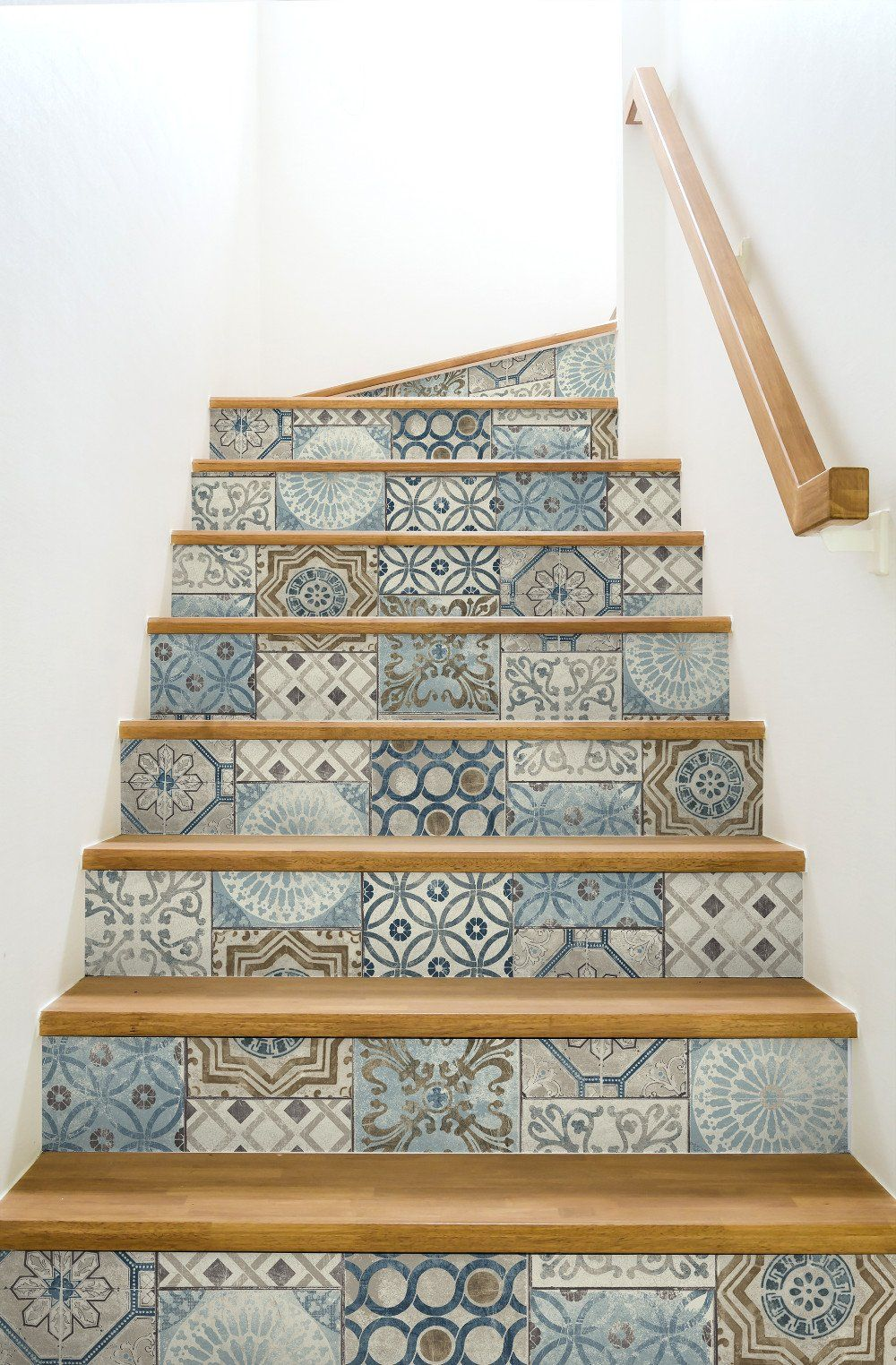 Moroccan Tile Wallpaper Bathroom