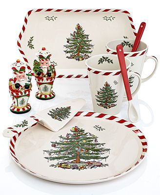 Oh My Gosh I Love This Spode Dinnerware Christmas Tree Peppermint Collection Macy S Hey Hon Christmas Dinnerware Christmas Tableware Spode Christmas Tree