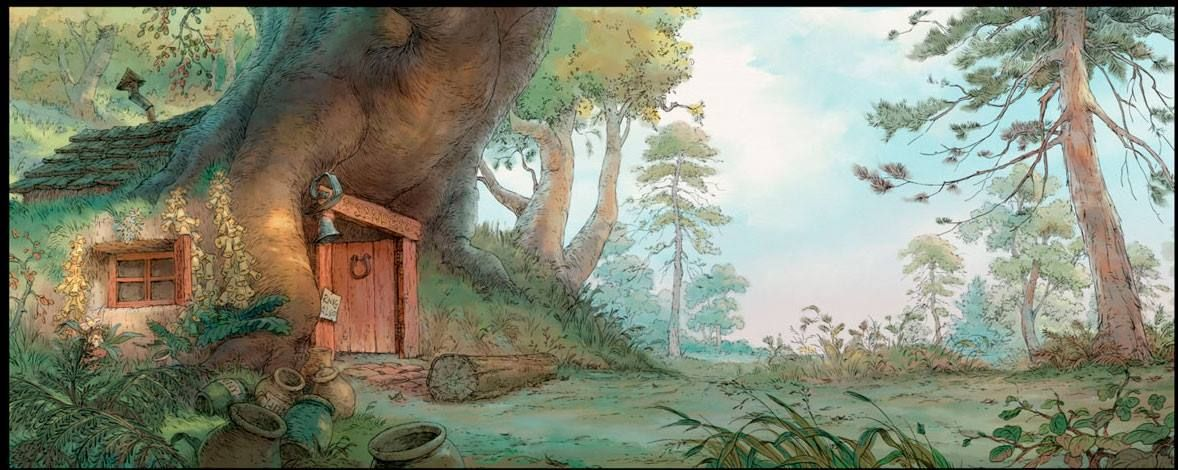 Winnie The Pooh Forest Background: Environment Painting, Concept Art World