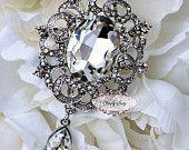 RD265 Rhinestone Brooch Pin Wedding Bridal Jewelry FaBuLoUs Crystal Bouquet Shawl Sash DIY