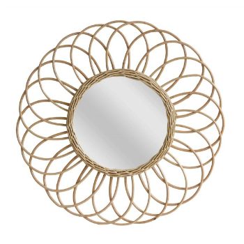 HKliving Willow Round Wall Mirror - Trouva