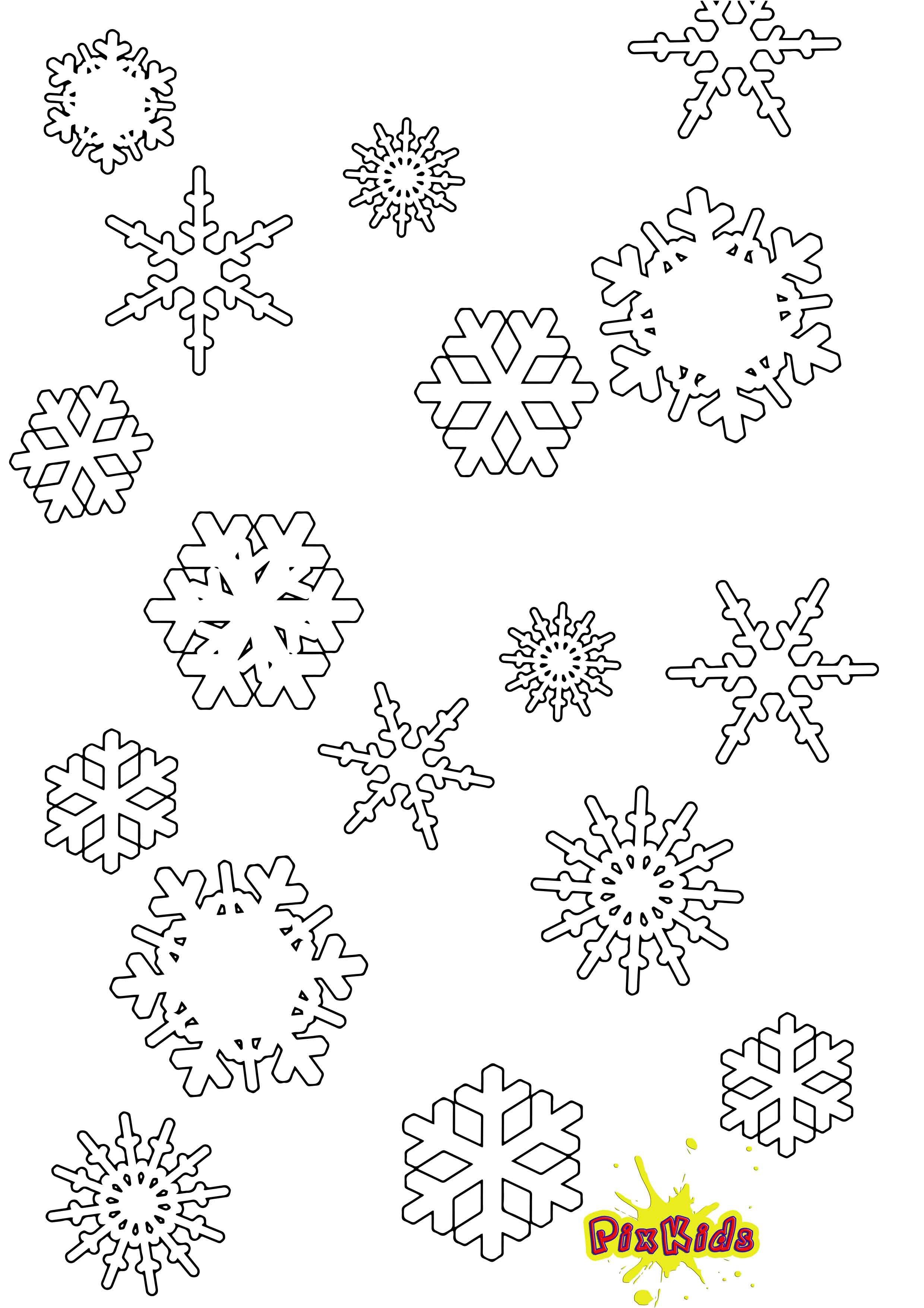 Ausmalbild Schneeflocken Malvorlage kostenlos  Schneeflocke