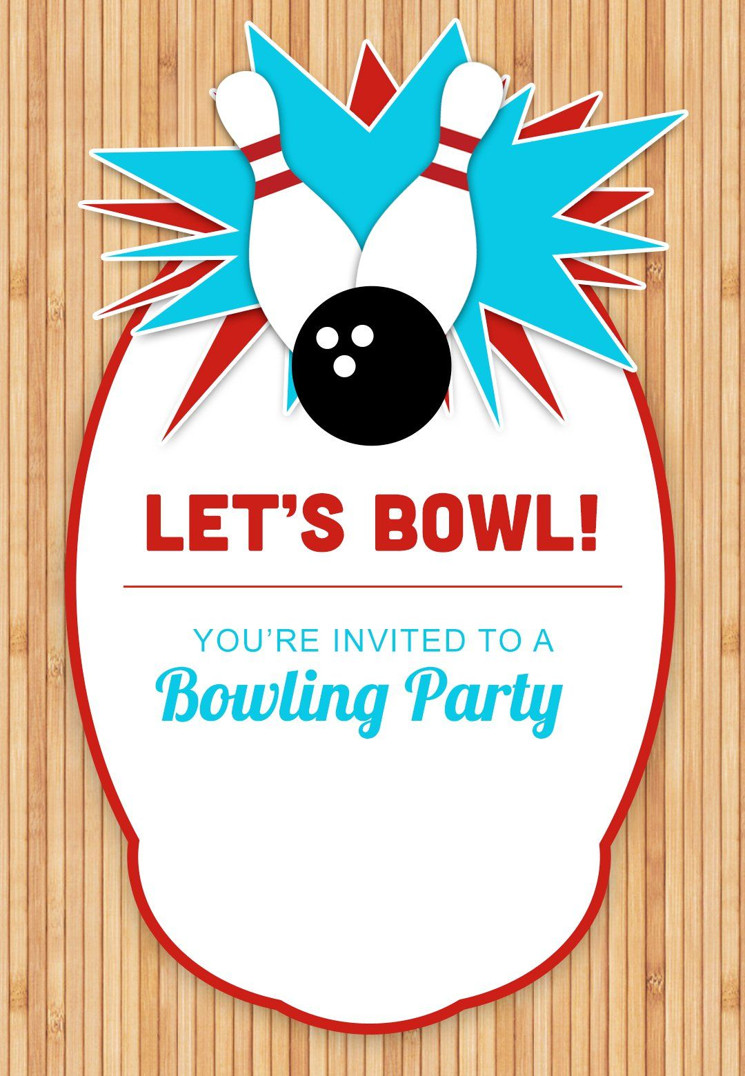 Bowling Party - Free Birthday Invitation Template | Greetings Island ...