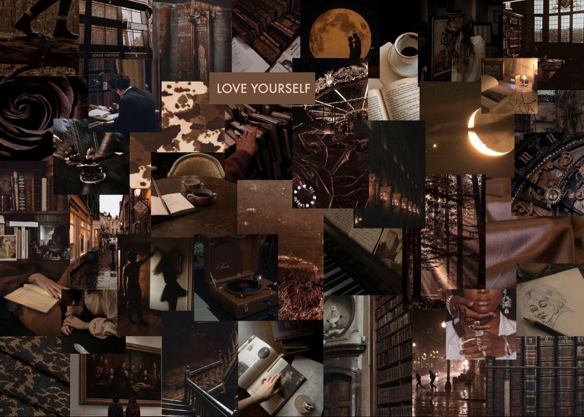 brown aesthetic macbook wallpaper in 2021 aesthetic
