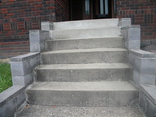 Great Idea For Expanding Our Front Entrance Concrete Steps. Adding A More  Modern Railing Without