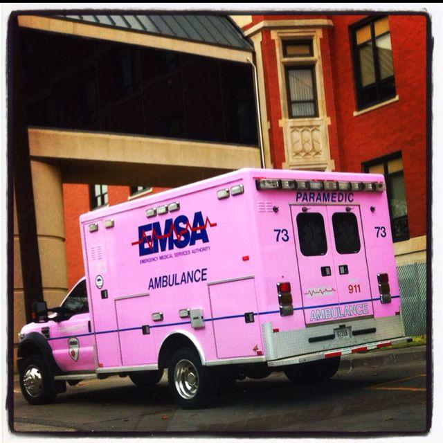 Cute Pink Ambulance I Saw Ambulance Emergency Medical Services Top Nursing Schools