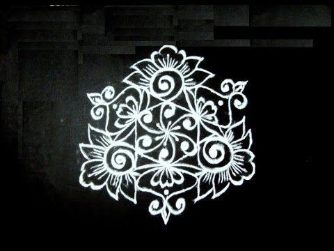 Easy rangoli flower art designs with to dots kolam muggulu simple rangolis youtube also rh pinterest